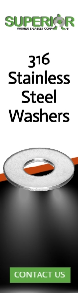 316 Stainless Steel Washers - Banner Ad - 160x600