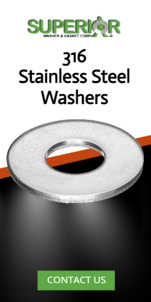 316 Stainless Steel Washers - Banner Ad - 300x600