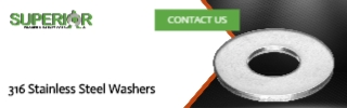 316 Stainless Steel Washers - Banner Ad - 320x100
