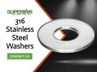 316 Stainless Steel Washers - Banner Ad - 320x240
