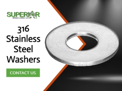 316 Stainless Steel Washers - Banner Ad - 400x300
