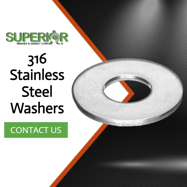 316 Stainless Steel Washers - Banner Ad - 600x600