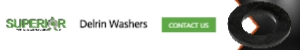 Delrin Washers - Banner Ad - 300x50