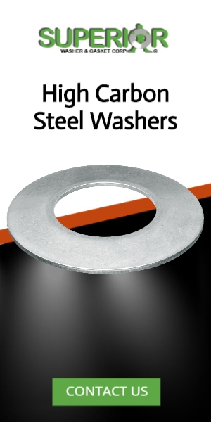 High Carbon Steel Washers - Banner Ad - 300x600