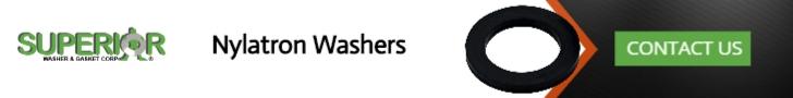 Nylatron Washers - Banner Ad - 728x90