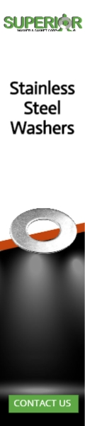 Stainless Steel Washers - Banner Ad - 120x600
