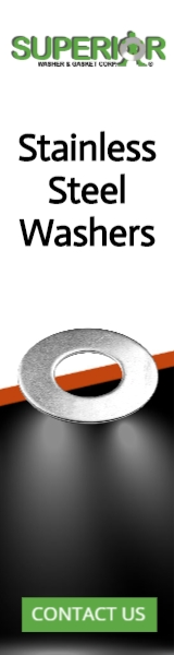 Stainless Steel Washers - Banner Ad - 160x600