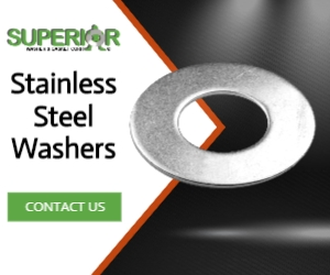 Stainless Steel Washers - Banner Ad - 300x250