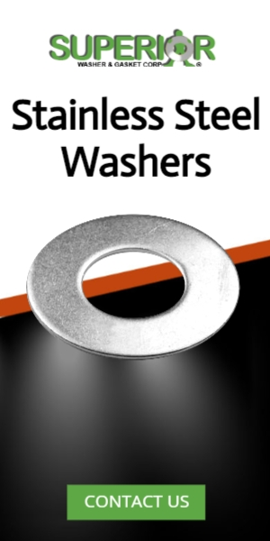 Stainless Steel Washers - Banner Ad - 300x600