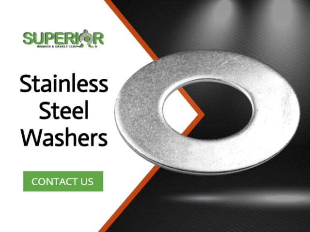 Stainless Steel Washers - Banner Ad - 640x480